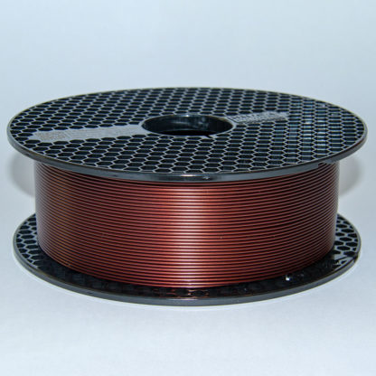 Prusament PLA Mystic Brown Spool from the side